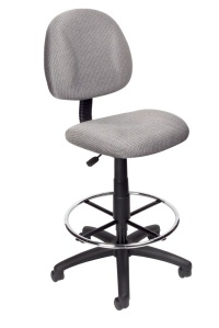 Armless Drafting Stool Gray