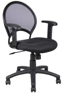 Boss Mesh Office Chair w/ Adjustable Arms