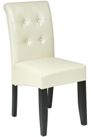 Cream Eco-Leather Parsons Dining Chair