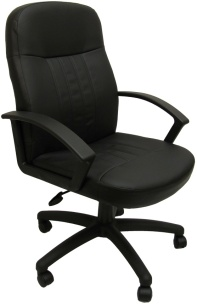 Boss Mid-Back Leather Conference Chair